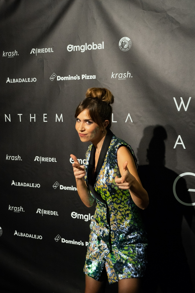 La periodista María Gómez (@maria.gomezg) fue una de las dos presentadoras de la Gala y fue vestida de Bleis Madrid