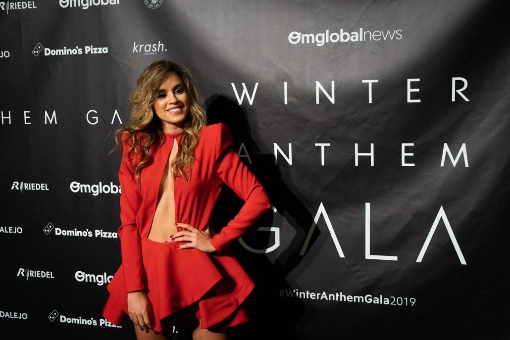 Rocío Camacho (@rocioccamacho) con vestido rojo de @pero_natalia